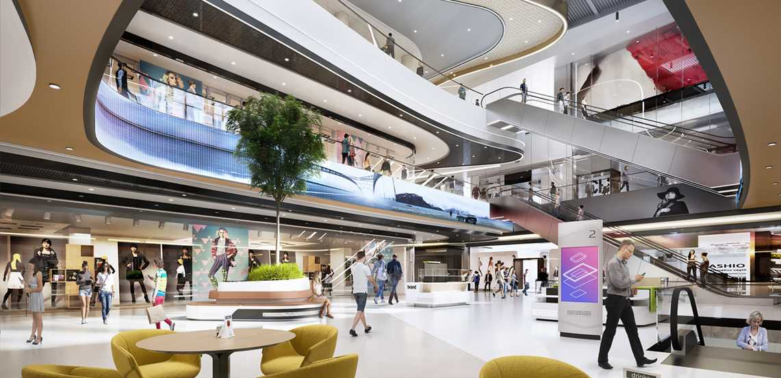 The construction of the first smart shopping mall of Budapest has started